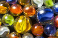 A collection of colorful ribbon marbles Stock Images
