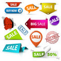 Collection of colorful sale elements Stock Images