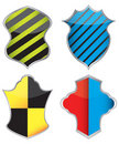 Collection of colorful shield Stock Photo