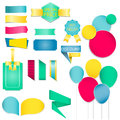 Collection of colorful speech bubbles and dialog balloons.Ribbon And Labels vector / Illustration Royalty Free Stock Photo