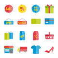 Collection of colorful vector flat shopping for web, print, mobile apps