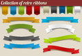 Collection of colorful vector retro ribbons Royalty Free Stock Photography