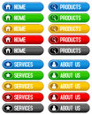 Home Products Services Buttons Royalty Free Stock Photo