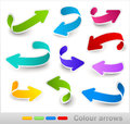Collection of colour arrows vector illustration Royalty Free Stock Photo