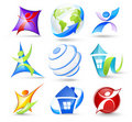 Collection of colour icons Royalty Free Stock Photography