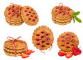 Collection of cookies  on white background Royalty Free Stock Photo