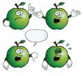 Collection crying apples various gestures Stock Images