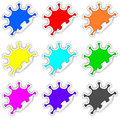 Color Splash Stickers Royalty Free Stock Photo