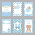 Collection of cute baby boy card