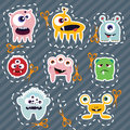 Collection of cute colorful monsters, vector Royalty Free Stock Photography