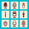 Collection d ic nes de microphone illustration Image stock