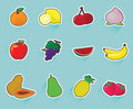 Collection de fruits Images libres de droits