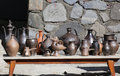 Collection de plats antiques d argile Image libre de droits