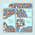 Collection of decorative floral greeting cards in Royalty Free Stock Photo