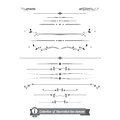 Collection of decorative line elements border and page rules ve vector illustration eps Stock Image