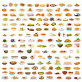 Collection of delicious food