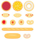 Collection of delicious pastry isolated on white background a Royalty Free Stock Image