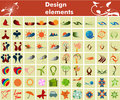 Collection of design elements Stock Images