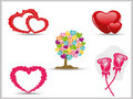 Collection of detailed  hearts. Royalty Free Stock Photography