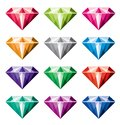 vector collection of diamonds Royalty Free Stock Photo