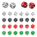 Collection of dice vector Stock Image