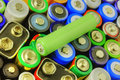 Collection of different batteries Royalty Free Stock Photo