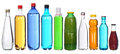 Collection of different bottles isolated on white Royalty Free Stock Photo