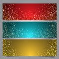 Christmas star banners Royalty Free Stock Photo