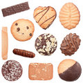 Collection of different cookies Royalty Free Stock Photo