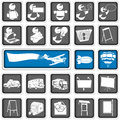 A collection of different squared advertising icons Stock Image