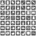 A collection of different squared baking icons Royalty Free Stock Image