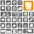 A collection of different squared business icons Stock Images