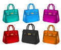 Collection of differents colorful handbags raster fashion illustrationcollection Stock Image