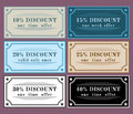 Collection discount labels vintage retro set Royalty Free Stock Images