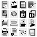 Collection of document icons paper and file vector icon set isolated on grey background eps file available Royalty Free Stock Photos