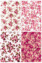 Collection dusty rose color vintage on fabric for background Royalty Free Stock Photo