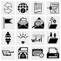 Collection of e mail web vector icons set on grey background eps file available Royalty Free Stock Image