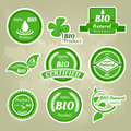 Collection of eco and bio labels, badges and icons Stock Photos
