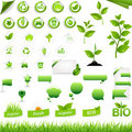 Collection Of Eco Elements Royalty Free Stock Images