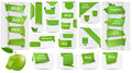 Collection with Eco tags and labels and stickers Stock Images