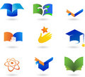 Collection of education icons Royalty Free Stock Photos