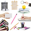 Collection education objects on white background Royalty Free Stock Photography