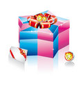 Collection of elegant Colofrul Gift Boxes Royalty Free Stock Images