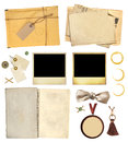 Collection elements for scrapbooking objects isolated on white background Stock Images