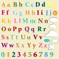Collection of english letters colorful alphabet for design vector set abs Royalty Free Stock Photography