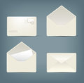 Collection of envelopes in different states eps Royalty Free Stock Images
