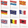 Collection of european flags Stock Image