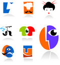 Collection of face icons Royalty Free Stock Photos