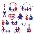 Collection of family icons, logo Royalty Free Stock Images