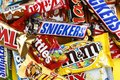 A collection of famous chocolate bars